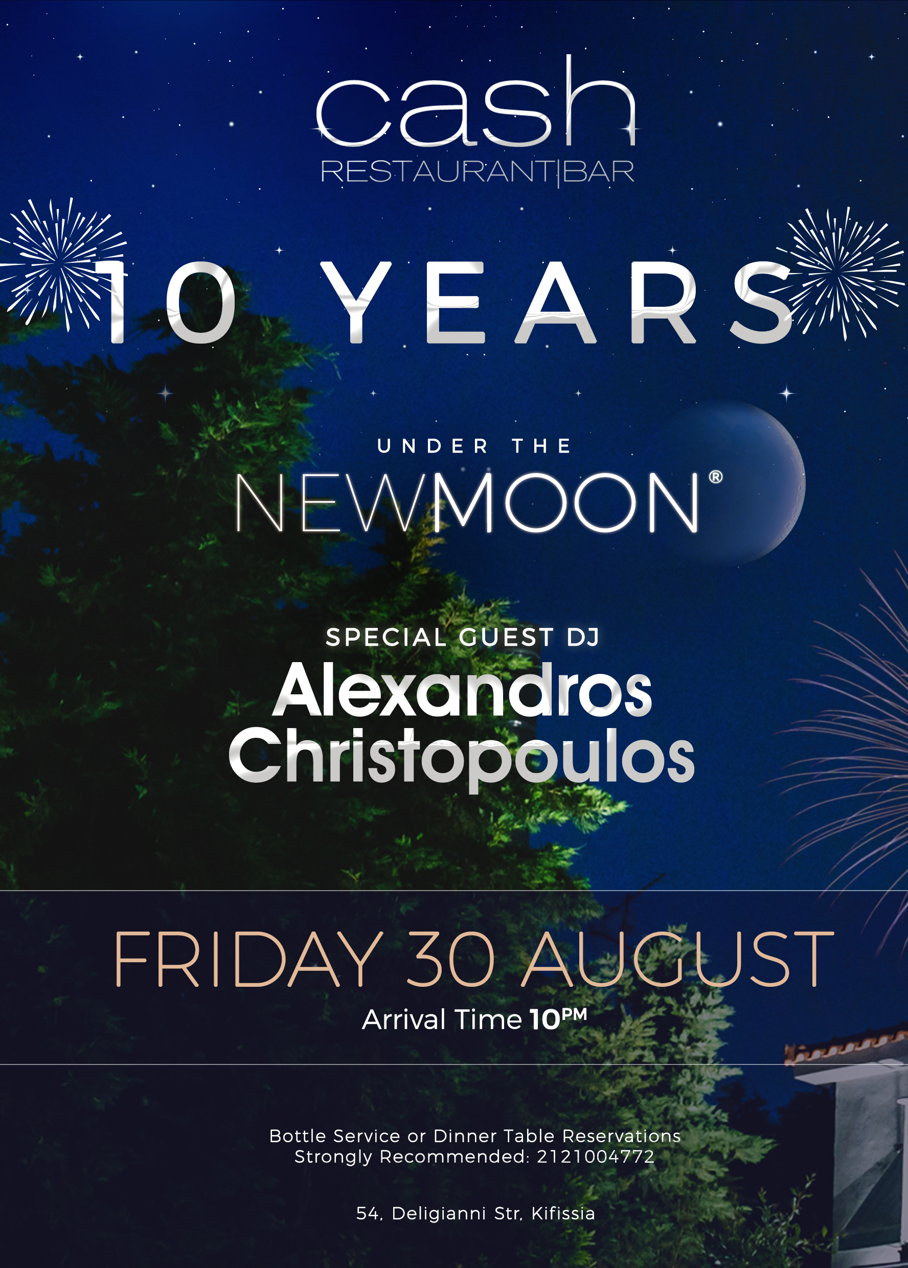 10 Years CASH under the New MOON (Kifissia)