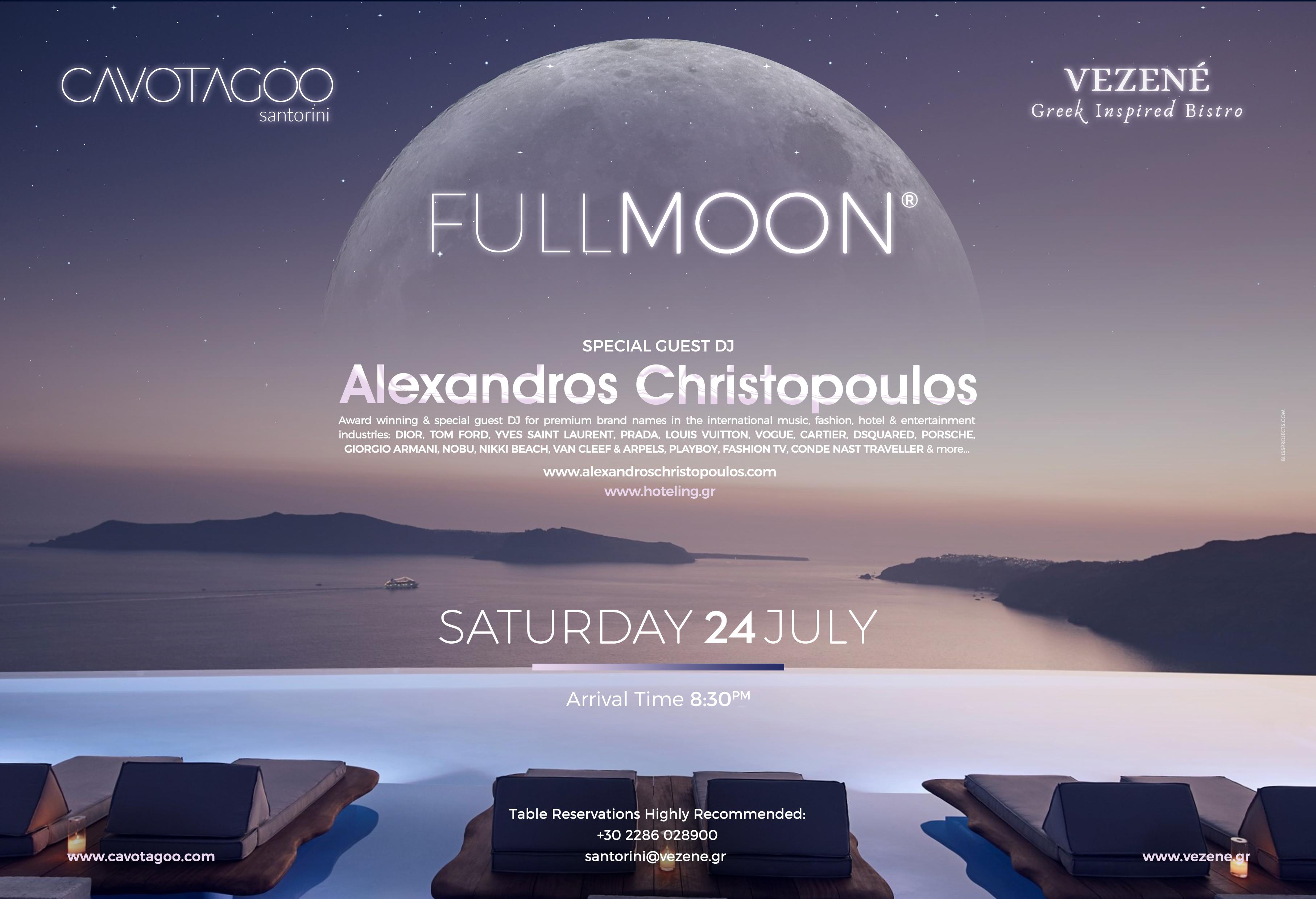 FULL MOON ® VEZENÉ | Cavo Tagoo Santorini